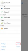 اضافه کردن ارز دیجیتال در کیف پول کوینومی اندروید
