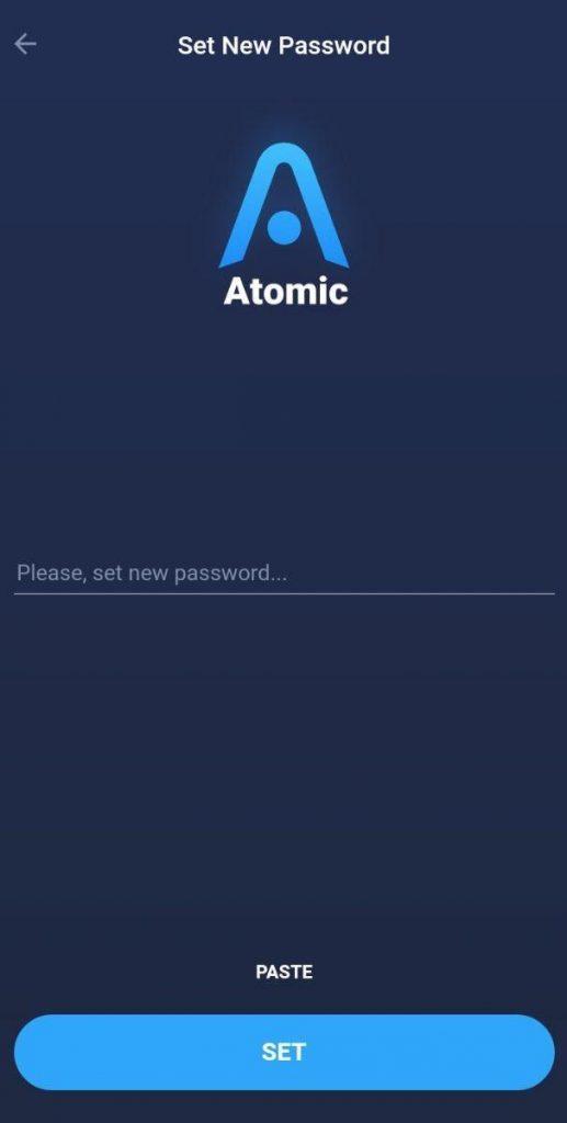 رمز عبور کیف پول اتمیک والت