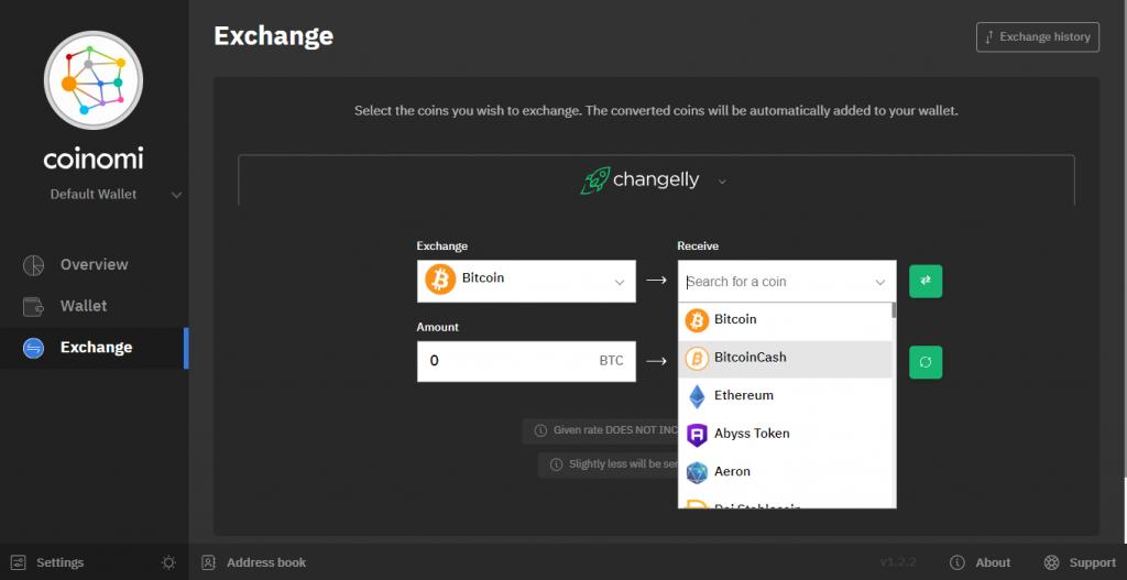 انتخاب exchange برای تبدیل ارزهای دیجیتال در کوینومی