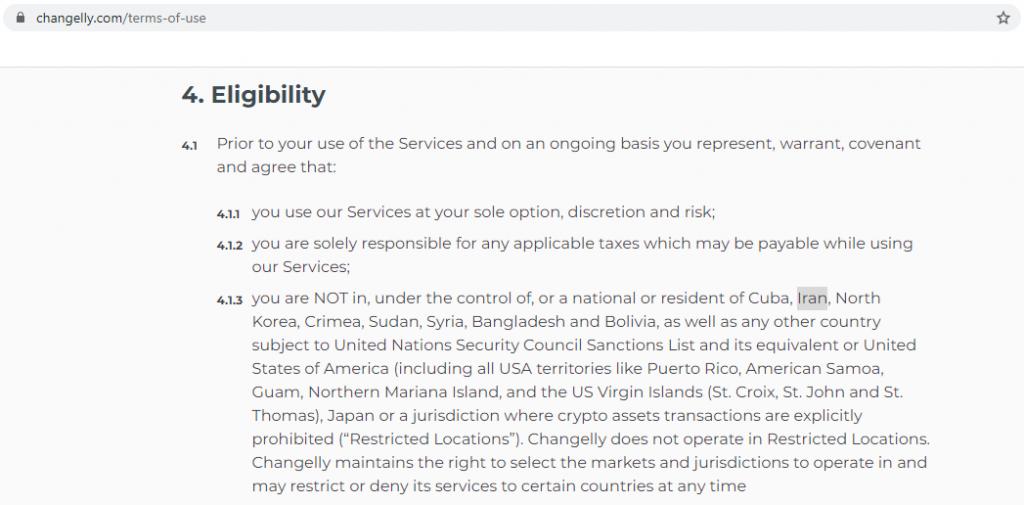 تحریم ایران توسط چنجلی بهنگام تبدیل ارزهای دیجیتال در کوینومی