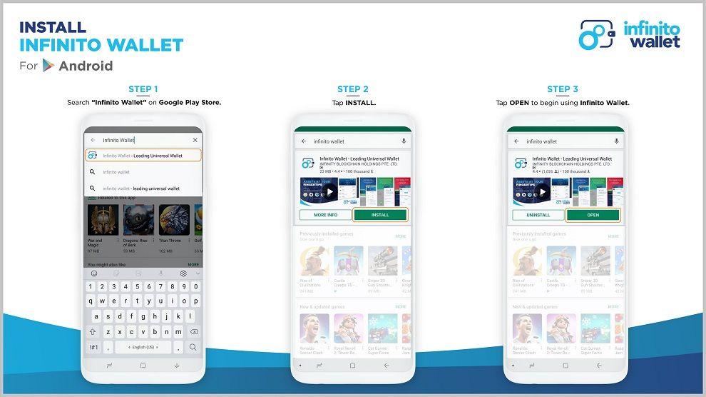 نحوه نصب کیف پول اینفینیتو در Android