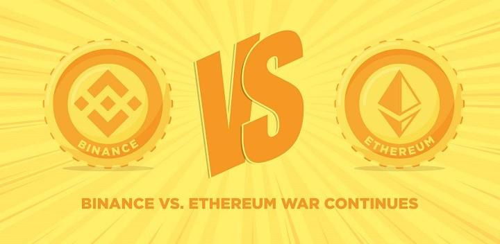 رقابت زنجیره هوشمند بایننس با اتریوم