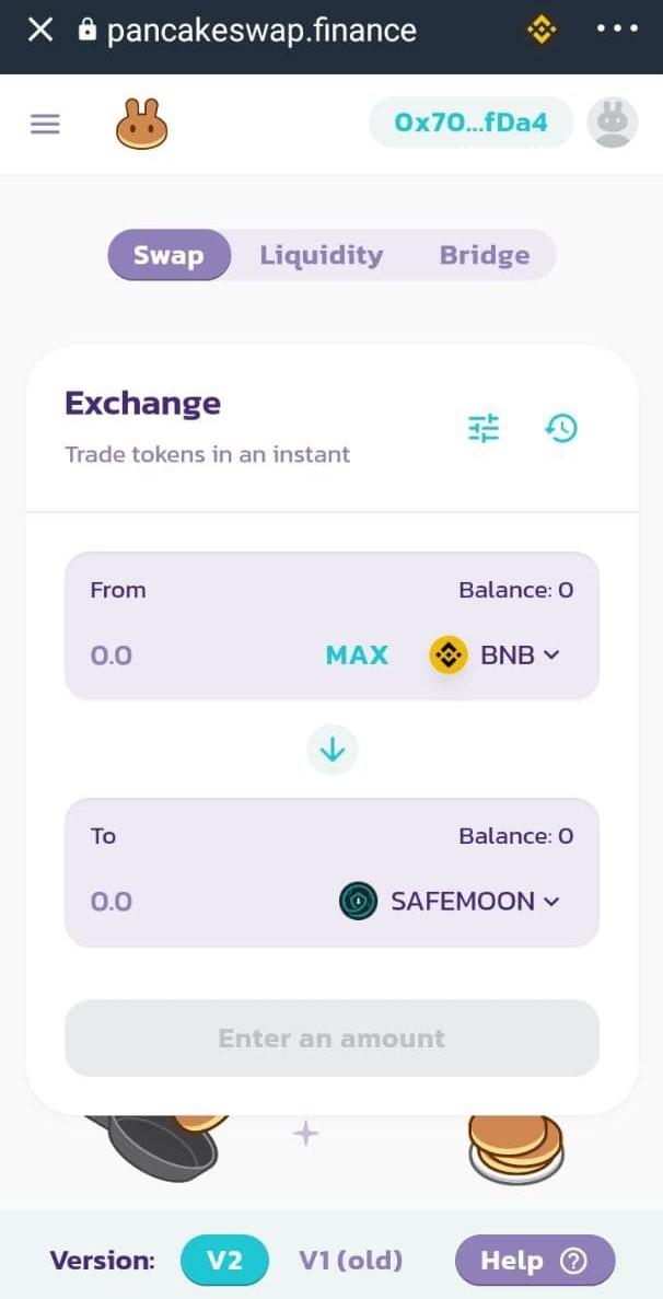 تبدیل BNB به SafeMoon